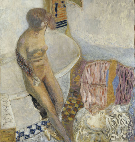 Nude at her bath - Pierre Bonnard