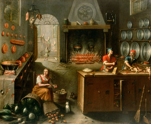 Inside a Kitchen - Carlo Antonio Crespi
