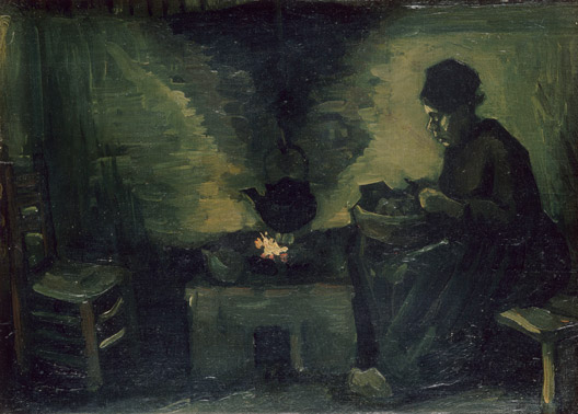 Peasant Woman By the Hearth - Vincent Van Gogh