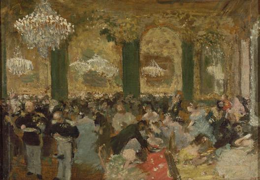 Le bal, huile sur toile d'Edgar Degas