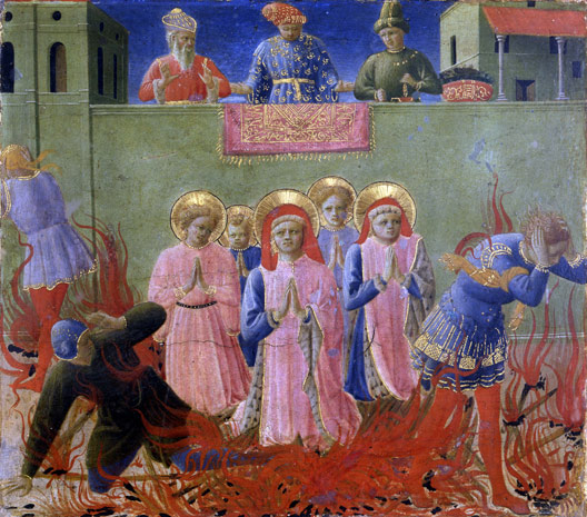 Saint Cosmo and Damian Condemned to Burning at the Stake - Fra Angelico