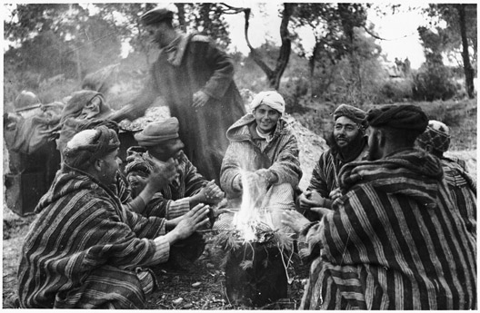 Moroccan Tribesmen Around a Fire - anonymous