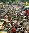 Dhaka, congestion normale du trafic