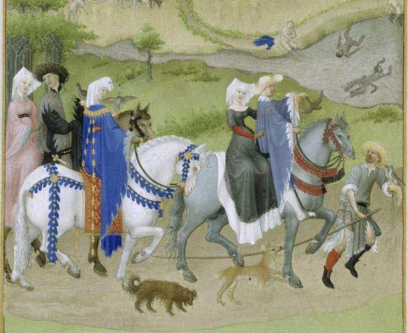 Les Très Riches Heures du Duc de Berry (The very rich hours of the Duc de Berry: The Calendar. August) - Limbourg brothers
