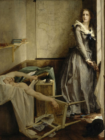 July 13, 1793: Murder of Marat by Charlotte Corday - Paul Baudry