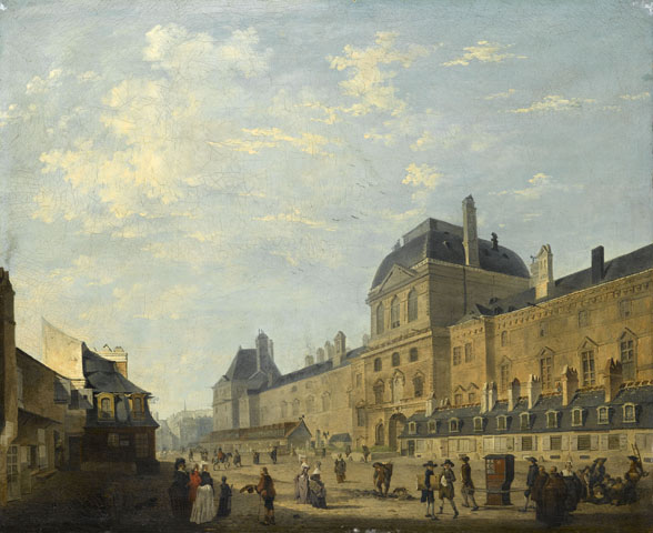 The Louvre façade seen from Rue Fromenteau - Philibert-Louis Debucourt