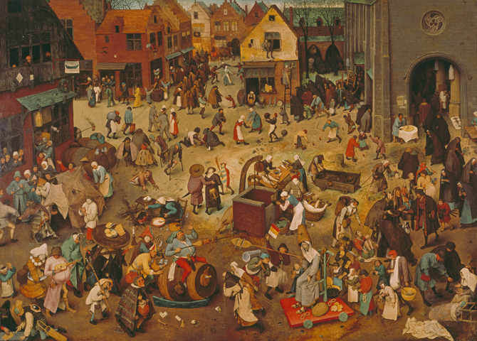 The Fight Between Carnival and Lent - Pieter Bruegel The Elder