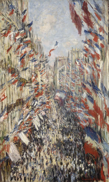 Rue Saint Denis in Paris, Festival of June 30, 1878 - Claude Monet