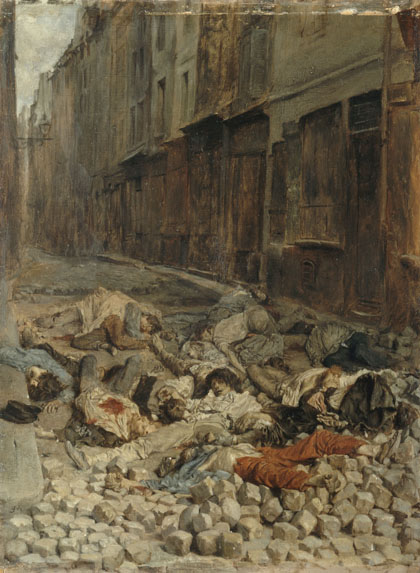 The Barricade, Rue de la Mortellerie - Jean-Louis-Ernest Meissonier