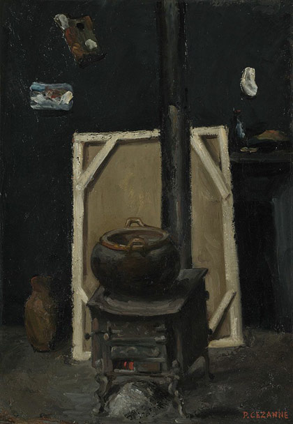 The Stove in the Workshop - Paul Cézanne