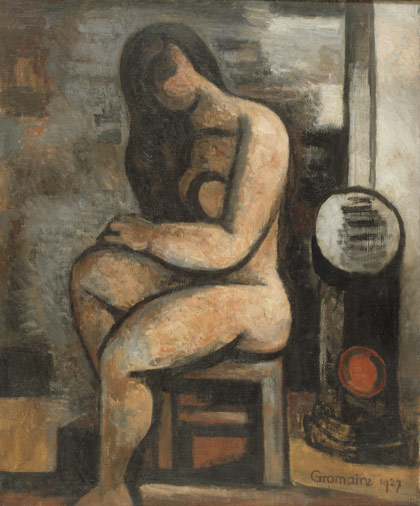 Nude with long hair - Marcel Gromaire