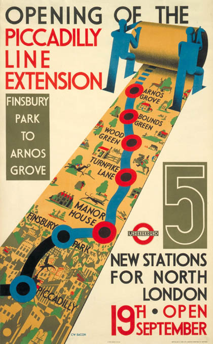 affiche : Opening of the Picadilly line extension