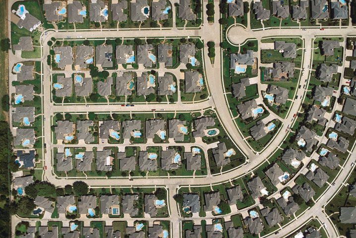 Large Houses on Small Lots - Plano, Texas -Alex Maclean